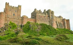 Bamburgh Castle. Northumberland stock images