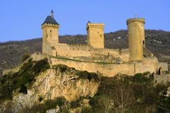 Fortress of Foix Stock Images