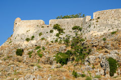 Fortress Fortezza in city of Rethymno Stock Photos