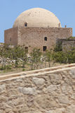 Fortress of Fortezza in Rethymno and the Mosque. Crete. Greece Royalty Free Stock Photos