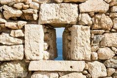 Fortress of Fortezza. Rethymnon. Crete. Greece. Stock Photos