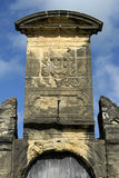 Fortress Gate of Fort Orange with coat of arms Royalty Free Stock Photos