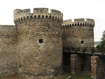 Fortress gate with towers Royalty Free Stock Images