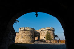 Fortress gate with a wooden bridge at Kalemegdan fortress, Belgrade Royalty Free Stock Photos