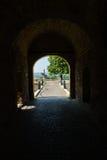 Fortress gate with a wooden bridge at Kalemegdan fortress, Belgrade Royalty Free Stock Photos