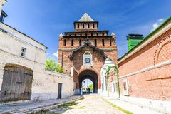 Fortress gates in Kolomna, Russia Stock Photography