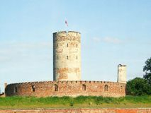 Fortress of Gdansk. Vistula Mouth fortress, seen from the river, Gdansk, Poland Stock Photography