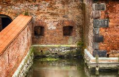The fortress in Gdansk. Walls of fortress in Gdansk, Poland stock images