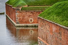 The fortress in Gdansk. Walls of fortress in Gdansk, Poland stock photography
