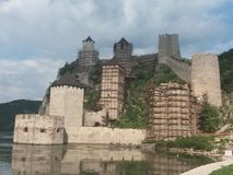 Fortress Golubac royalty free stock photography