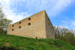Fortress on green hill Stock Photo