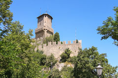 Fortress Guaita on Mount Titan. The Republic of San Marino Stock Photo