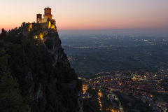 Fortress of Guaita - Mount Titano - San Marino Royalty Free Stock Photo