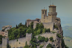 Fortress of Guaita. One of the most beautiful fortresses in the world Royalty Free Stock Photos