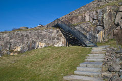 Fortress in Halden (South curtain wall). Curtain wall is the outer walls that go between the transferor bastion (towards east) and under King (to west). It was Royalty Free Stock Photography