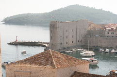 Fortress in the Harbor of Dubrovnik, Croatia Stock Image