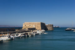 Fortress in Heraklion, Crete Royalty Free Stock Photos