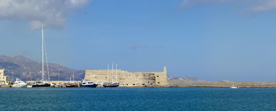 Fortress Heraklion panorama Stock Photos