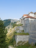 Fortress on the high mountains Stock Photography