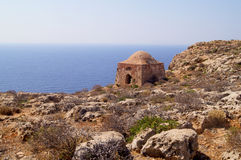 Fortress on the hill, Crete Royalty Free Stock Image