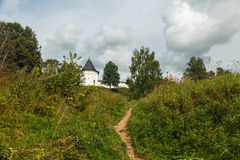 The fortress on the hill. Savvino-Storozhevsky Monastery, Zvenigorod, Moscow region Royalty Free Stock Photography