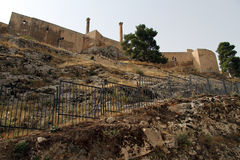 Fortress in Urfa. Fortress on the hill in Urfa, Turkey Stock Image
