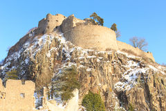 Fortress Hohentwiel. Ruin of the Hohentwiel at Hegau mountains at the city of Singen Stock Photography