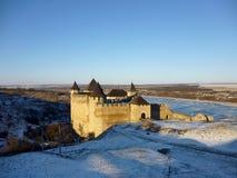 fortress hotyn ukraine western 免版税库存照片