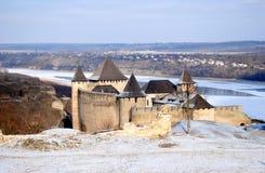 fortress hotyn ukraine western Royaltyfri Foto