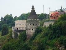 fortress hotyn ukraine western 免版税图库摄影