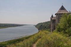 fortress hotyn ukraine western Arkivbild