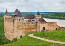 fortress hotyn ukraine western ukraine Royaltyfri Fotografi