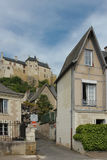 Fortress and houses. Chinon. France Royalty Free Stock Photography