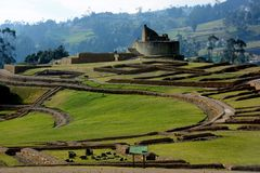 Fortress of Ingapirca. Fortaleza de Ingapirca archaeological complex located in the province of Cañar, Ecuador Royalty Free Stock Photo