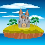 Fortress on island Stock Photo