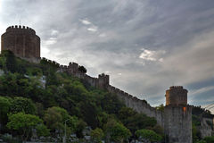 Fortress in Istanbul, Turkey Royalty Free Stock Photography