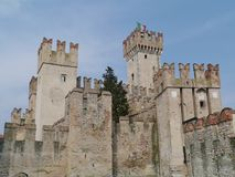 The fortress of the Italian city Sirmione Royalty Free Stock Photography
