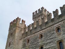The fortress of the Italian city Sirmione Royalty Free Stock Photos