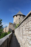 Fortress Ivangorod. Ivangorod Fortress with tower and wall Royalty Free Stock Photography