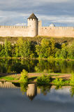 Fortress in Ivangorod, border of Russia Stock Image