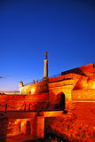 Fortress Kalemegdan at dawn Stock Photo