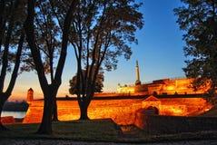 Fortress Kalemegdan at dawn Royalty Free Stock Photos