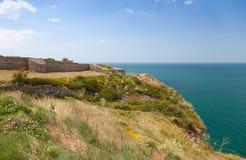 Fortress on Kaliakra headland, Bulgarian Black Sea Coast Stock Photography