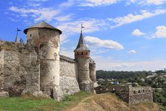 Fortress in Kamianets-Podilskyi  in Ukraine Stock Image