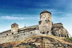 Fortress in kamyanets podilskiy Royalty Free Stock Image