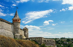 Fortress in kamyanets podilskiy ukraine Stock Images
