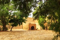 Fortress Kasbah  in Hammamet, North Africa. Fortress Kasbah  is the medieval landmark located  in Hammamet, North Africa Royalty Free Stock Images