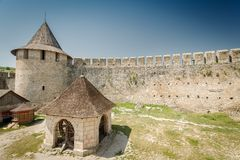 Fortress Khotyn Royalty Free Stock Photography