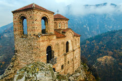 Landmark of Bulgaria - fortress of king Asen. Saint Mary of Petrich church at Asen's Fortress near Asenovgrad, Bulgaria - one of the most popular landmarks Stock Images