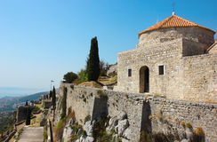Fortress Klis near Split. View in a bright sunny day from fortress Klis near Split in Croatia Royalty Free Stock Photo